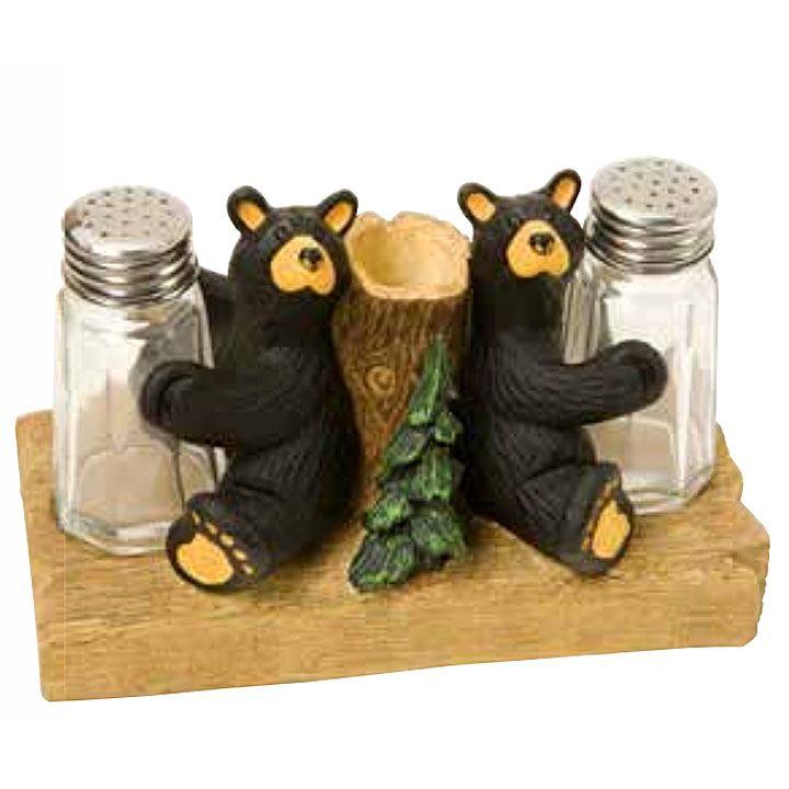 Saltandpepper Jpg Black Bear Decor Stuffed Peppers Bearfoots Bears