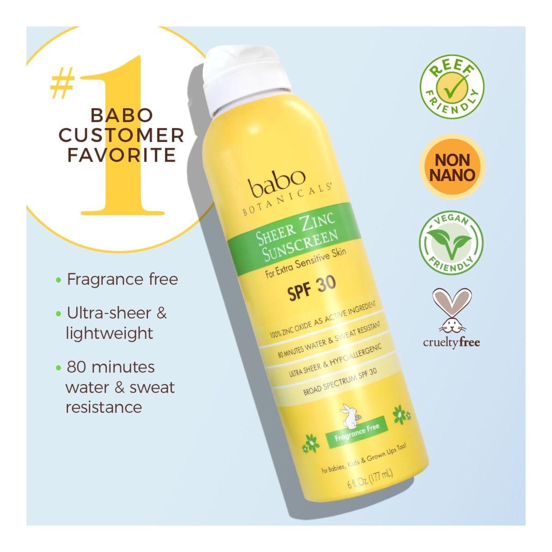 Sheer Zinc Continuous Spray Sunscreen Spf 30 6 Oz In 2020 Spray Sunscreen Spf Sunscreen Fragrance Free Products