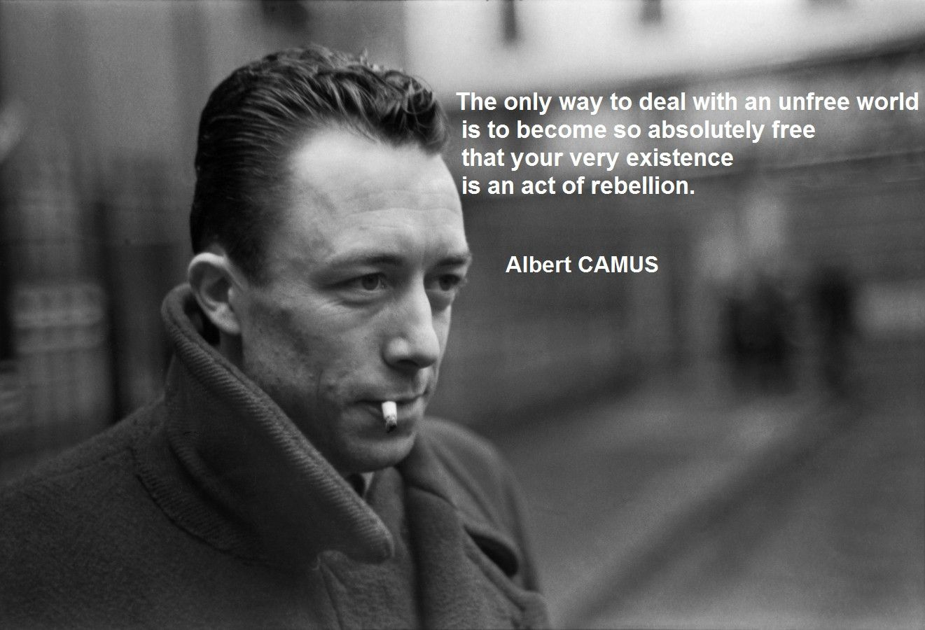 Albert camus quote about unique normal energy different -  The Only Way To Deal With An Unfree World Is To Become So Absolutely Free That Your Very Existence Is An Act Of Rebellion By Albert Camus