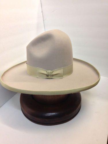 f192409c0ec2b Stetson Cowboy Hat 5X FELT FUR TOM MIX SILVERBELLY With Free ...