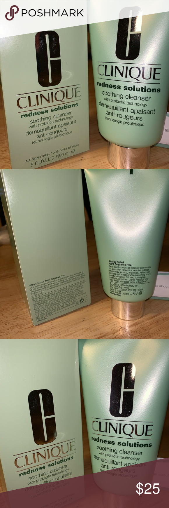Clinique redness solutions soothing cleanser NEW