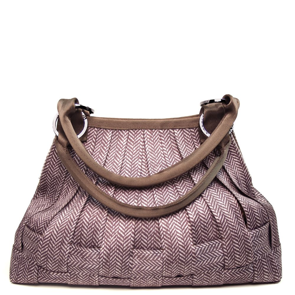 SeatBelt Bag - Large Stella Hobo Herringbone $288