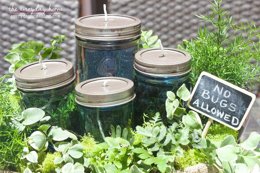 Easy DIY Citronella Mason Jar Candles and