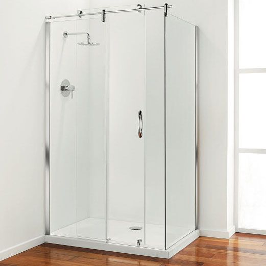 Buy Coram Premier Frameless Sliding Shower Door And Side Panel 1200mm X 900mm 8mm Glass Online Frameless Sliding Shower Doors Shower Doors Shower Enclosure