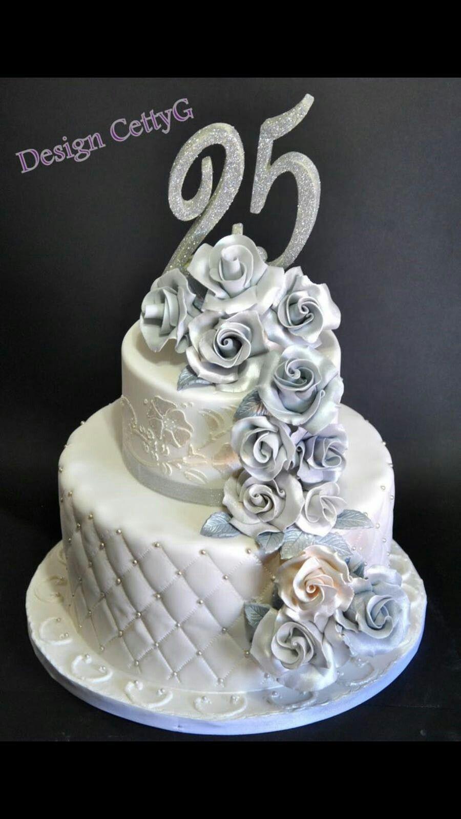 Серебряная свадьба торты картинки