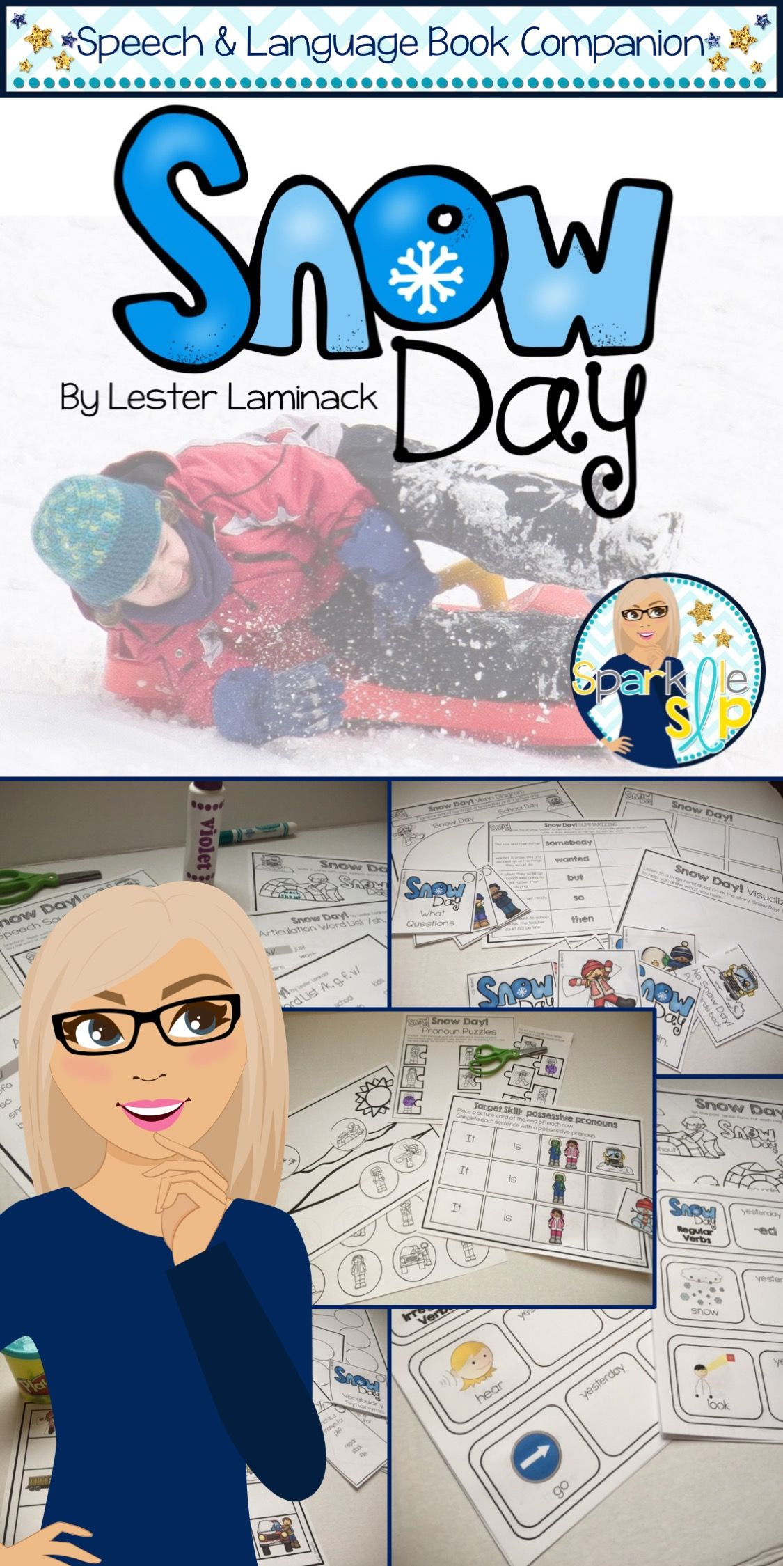 Snow Day Book Companion For Speech Therapy