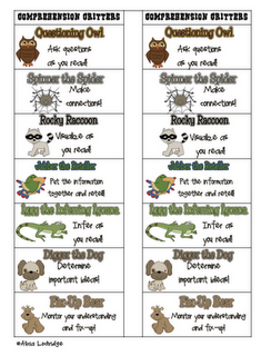 First Grade Factory: Reading Comprehension Strategy Materials