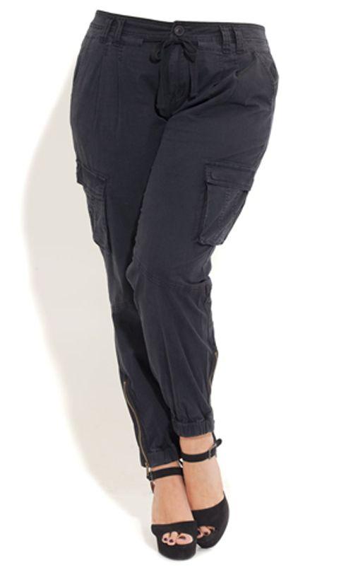 c88f4243a53 City Chic CUFFED HEM CARGO PANT- Plus Size Fashion