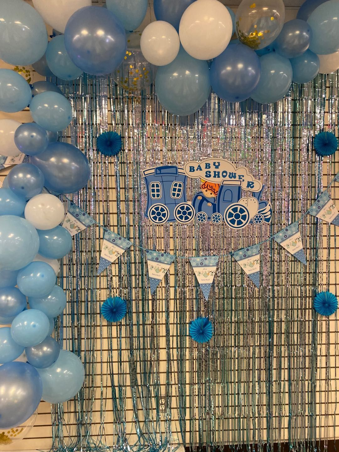 5pcs//set Baby Shower 1st Birthday Foil Balloons Party Wall Backdrop Decor