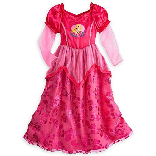 Disney Size 4 Red Once Upon A Time Sleeping Beauty Aurora Nightgown