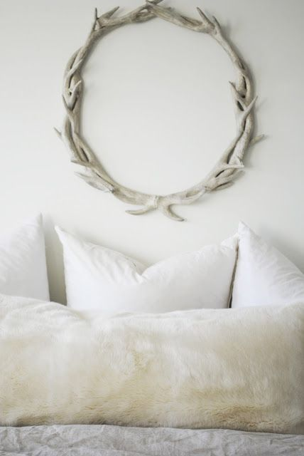 flourish design + style | bedroom reveal | antler wreath