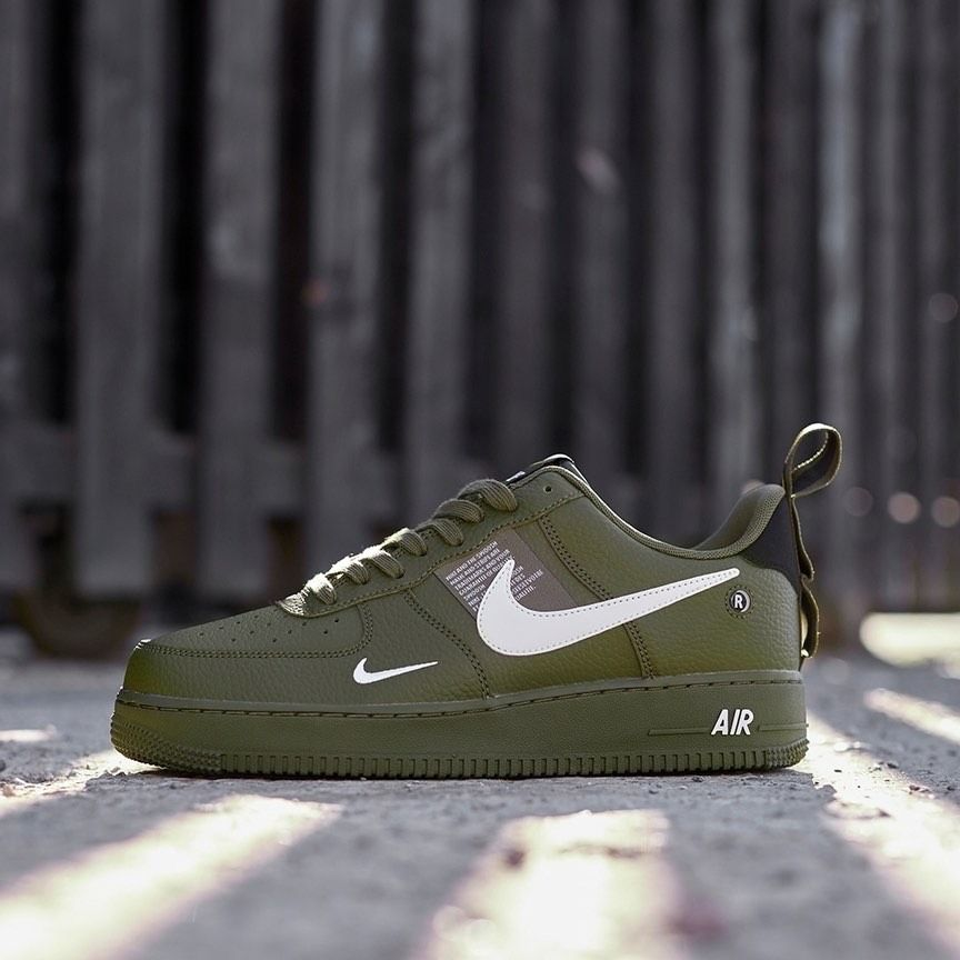 Nike Air Force 1 07 Lv8 Utility Olive Canvas With Images