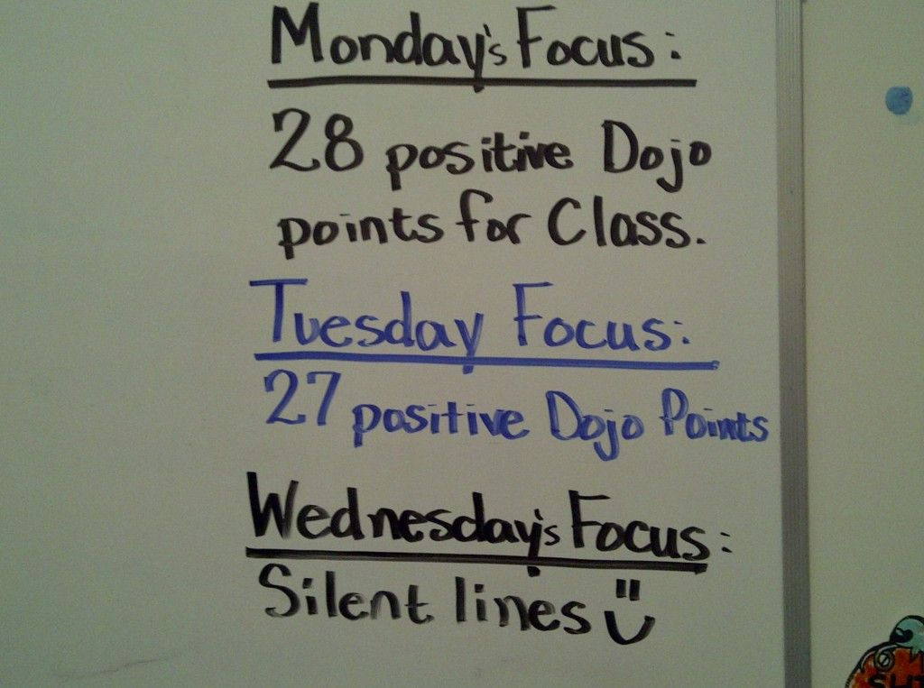 Using Dojo points and setting class-wide behavior goals