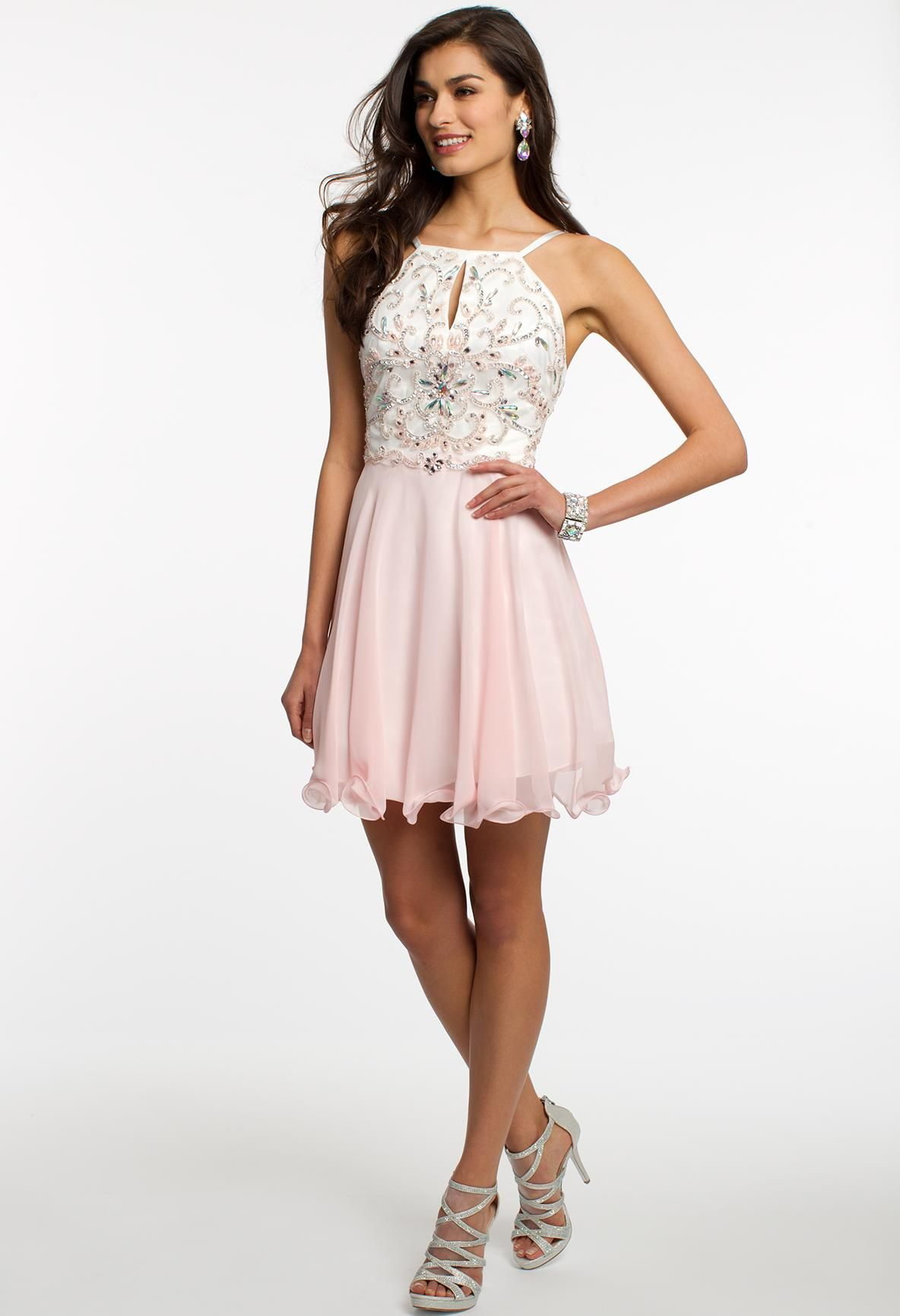 Chiffon dress with beaded bodice camillelavie clvprom prom