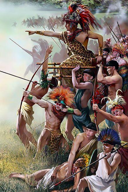 La Pintura Y La Guerra Sursumkorda In Memoriam Aztec Guerrero