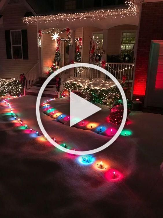 40 Wonderful Outdoor Christmas Lights Decorations Ideas in ...
