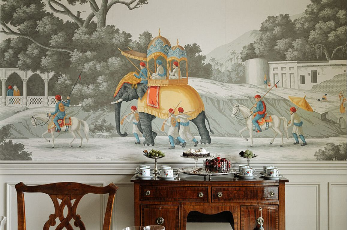 Yrmural Studio Hand Painted Wallpaper Chinoiserie Good Price With Same High Quality As Urnay And Fromental Silk