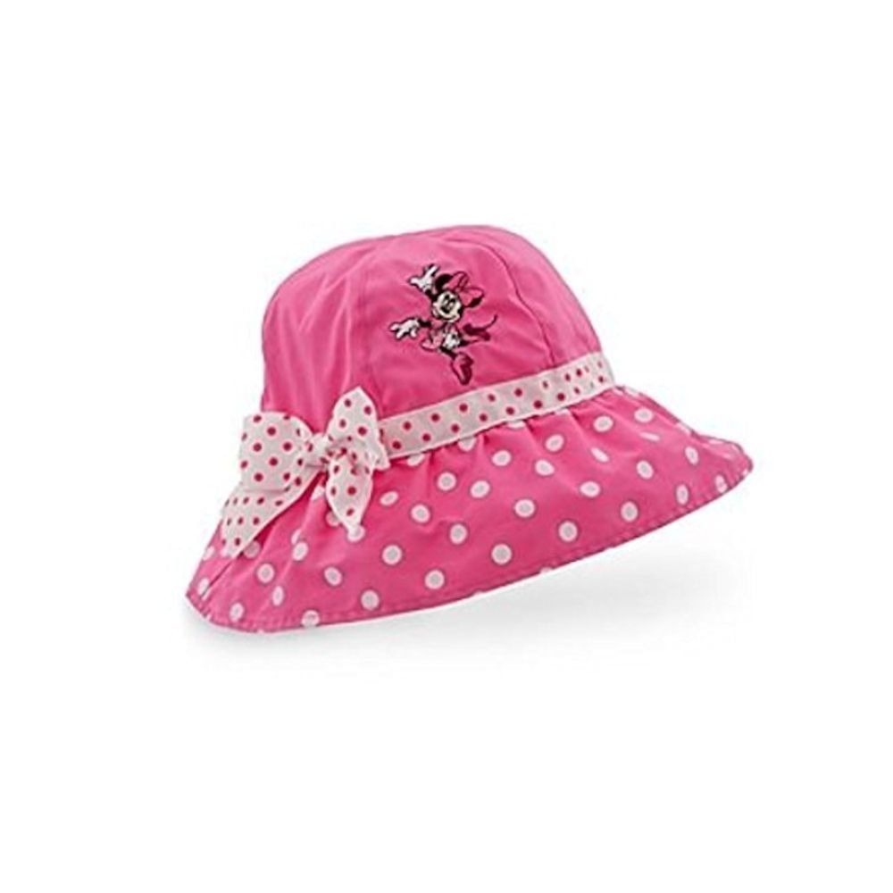 Minnie Mouse Girls Pink Polka Dot Sun Hat - Girls 5-7 years  41b9c29a2748