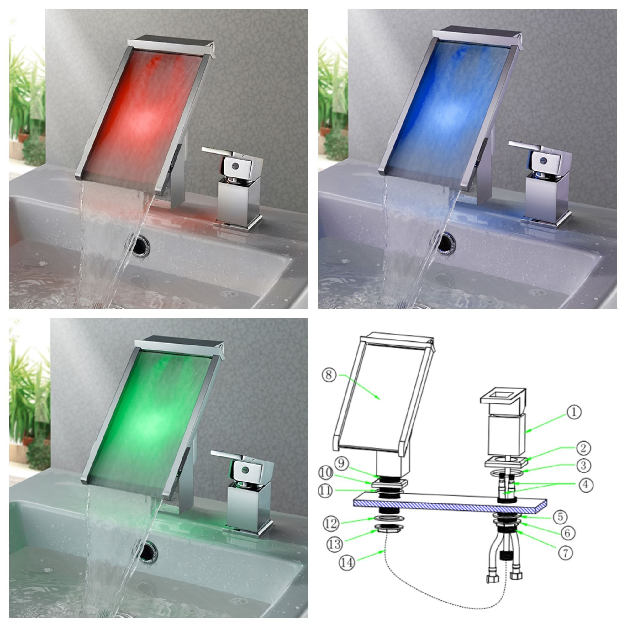 Pin By Manda Zhou On Led Waterfall Faucets Waterfall Faucet