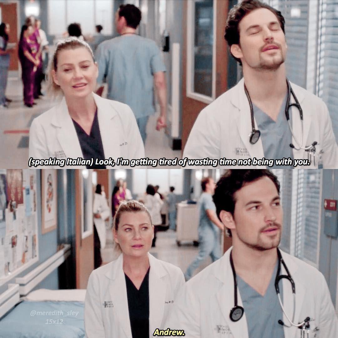 """Grey's Anatomy Scenes on Instagram: """"Andrew speaki"""