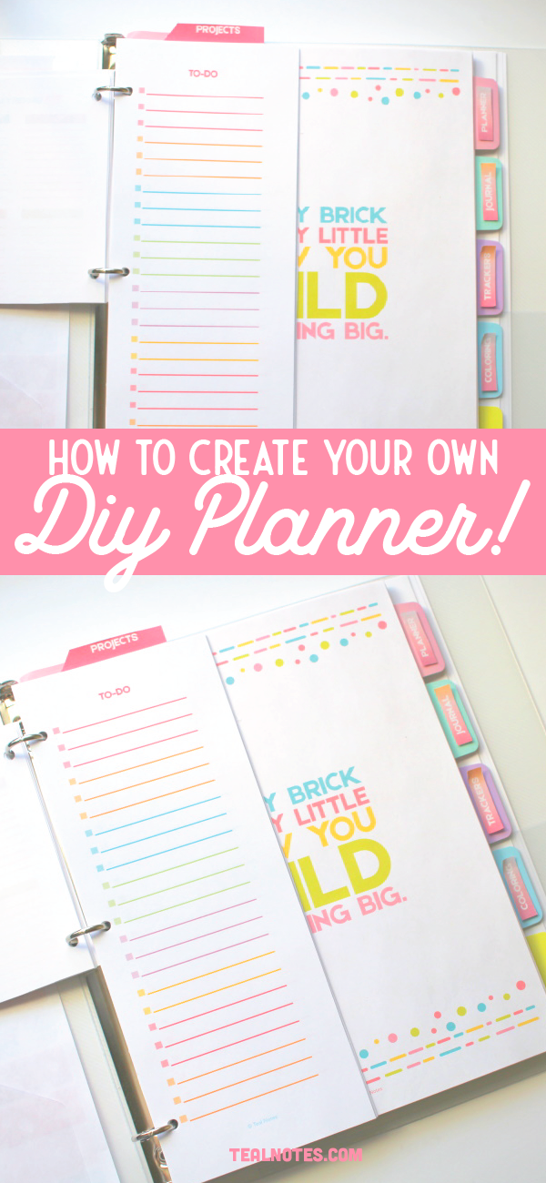 Diy Planner How To Make A Diy Printable Planner With Templates 2021 Create Your Own Planner Diy Planner Printable Planner