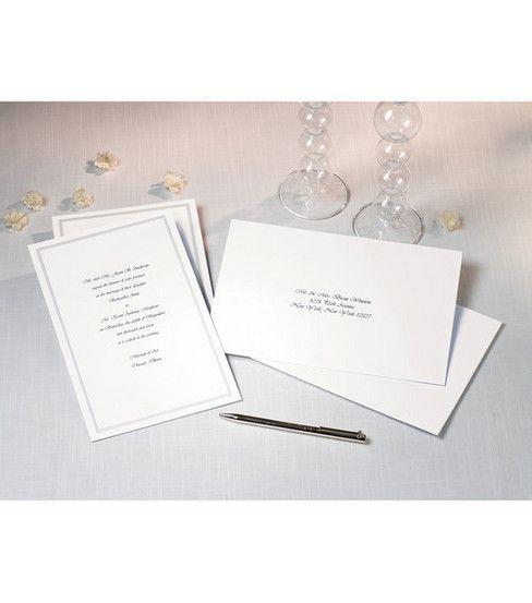 Wilton 100 Ct Single Border Invitation Kit Jo Ann Invitation Kits Simple Invitation Invitations
