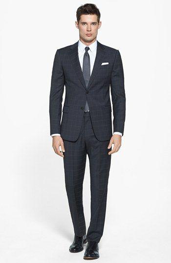 Armani Collezioni 'Sartorial' Windowpane Check Wool Suit | Nordstrom @Joseph Riendeau