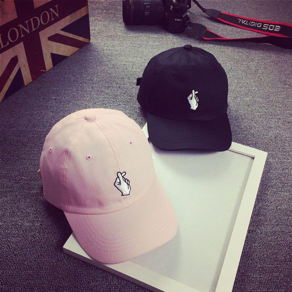 Sports & Entertainment Tennis Fashion Mens Womens Boys Love At Finger Baseball Cap Adjustable Strapback Trucker Hats Summer Sunscreen Cap Black/ Pink