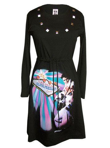 e3e6a72f3d9 Elvis Presley Las Vegas Long Sleeve Dress – IDILVICE