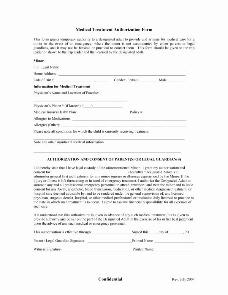 Medical Consent Form Template Free New 45 Medical Consent Forms Free Printable Templates Consent Forms Medical Template Printable