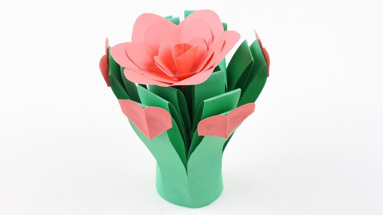Origami Grass Flowers Papercraft Pinterest Simple Origami