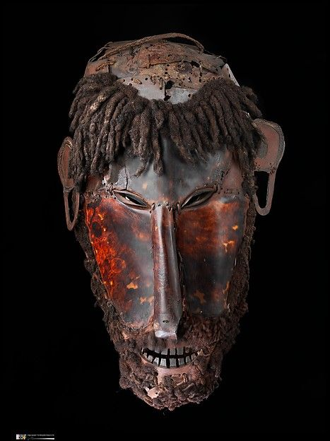 Mask (Le op), mid to late 19th century - Australia, Erub Island, Queensland, Torres Strait - Culture: Torres Strait Islander - Medium: Turtle shell, hair, fiber, pigment