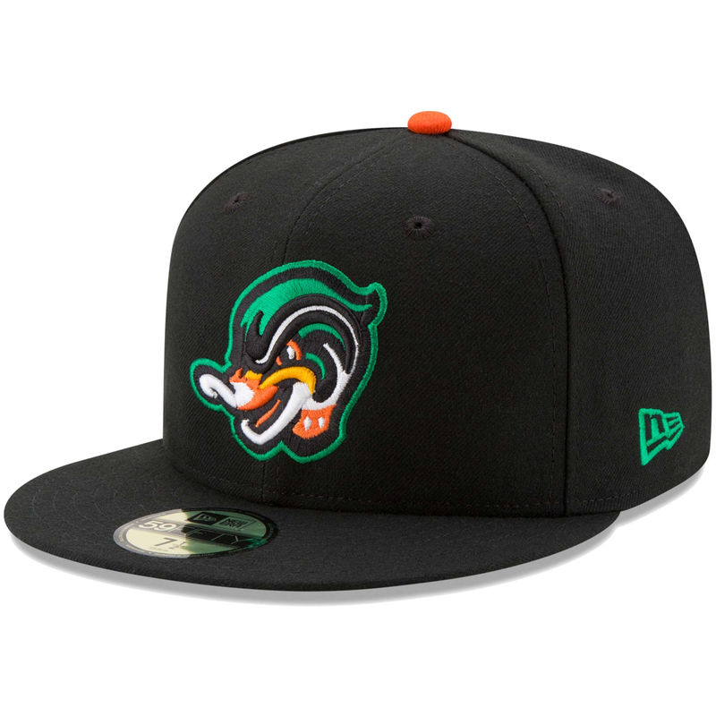 Down East Wood Ducks New Era Home Authentic Collection On Field 59fifty Fitted Hat Black Fitted Hats New Era Hats Hats