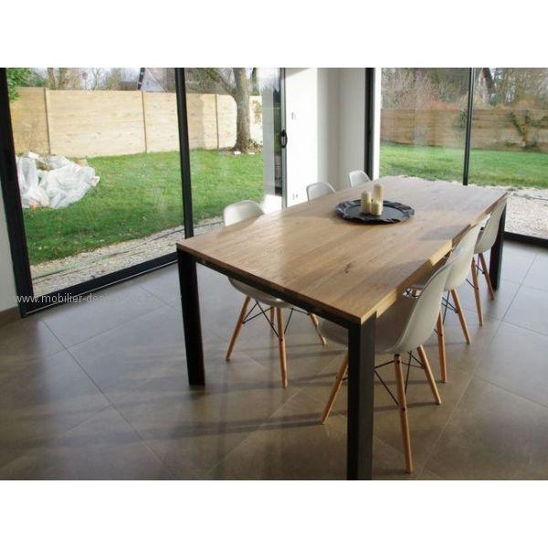 Table Loft - Chêne Massif deco int Pinterest