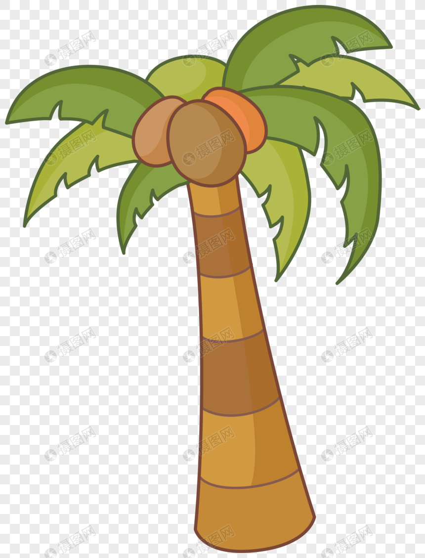 Cartoon Coconut Tree Illustration Cartoons Illustrations Coconut Trees Plants Cute Palm Tree Palm Tree Palm Tree
