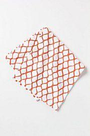 chain link napkins via anthro