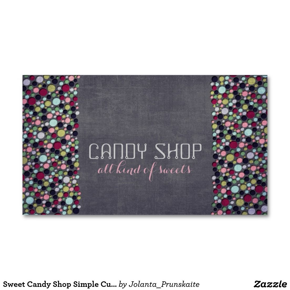 Sweet Candy Shop Simple Cute Coloful Bubbles Card Double-Sided Standard Business Cards (Pack Of 100)