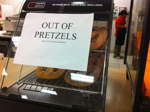 Funny Signs Out of Pretzels
