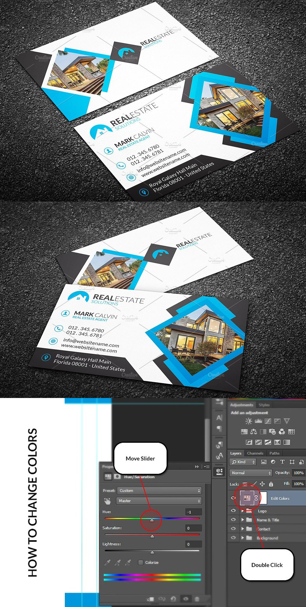 Real Estate Business Card Template Psd Pinterest