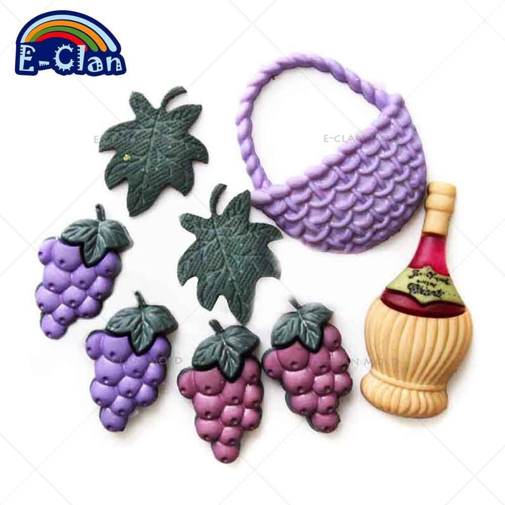Red Wine Grape Silicone Fondant Cake Molds Chocolate Mould