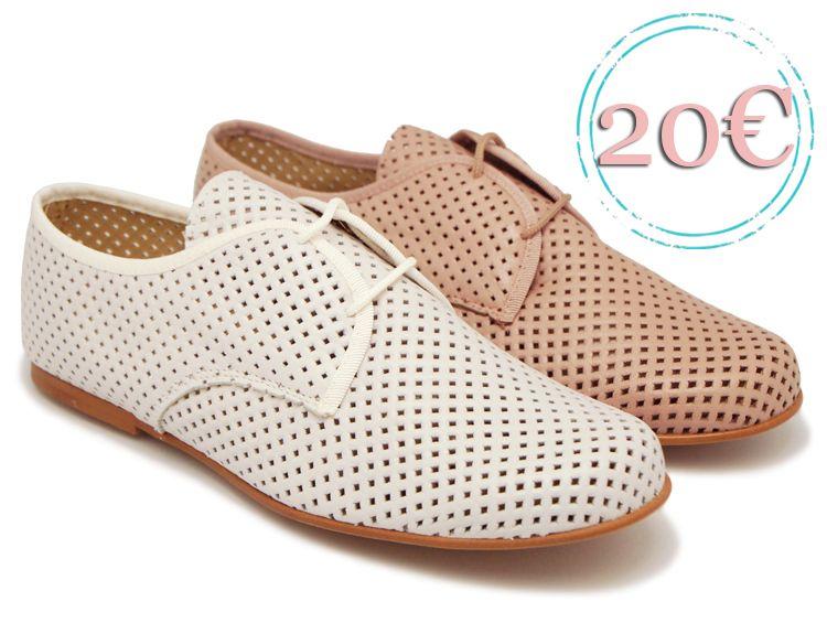 Tienda online de calzado infantil Okaaspain. Zapato blucher de piel  troquelada con cordones. Calidad b76d2d801b6
