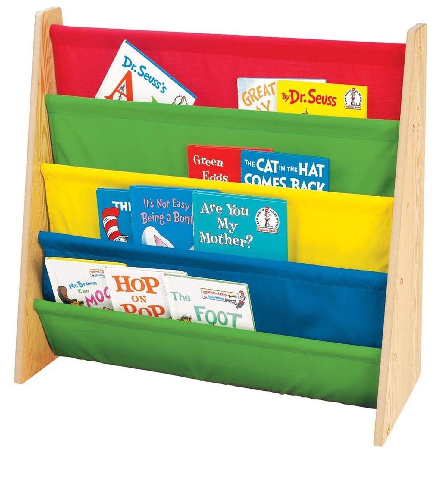 Tot Tutors Kids Book Rack Primary Colors