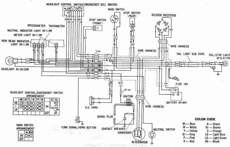 C90 Suzuki Motorcycle Wiring Diagram And Complete Electrical Honda Xl Electrical Wiring Diagram Electrical Wiring Diagram Wiring Diagram Engine Diagram