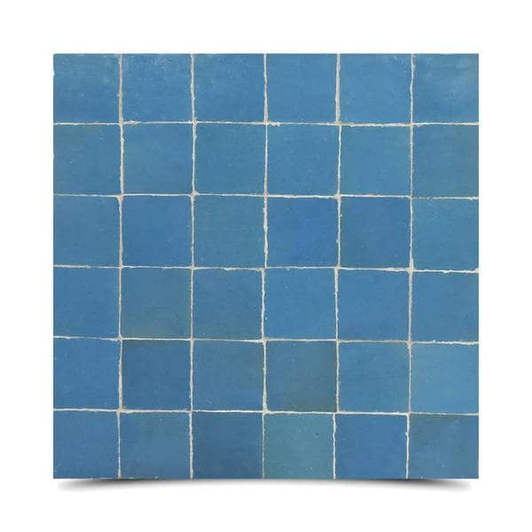 Handmade Solid Blue Mosaic Tile Pack Of 6 Morocco Blue Mosaic Tile Blue Mosaic Mosaic Tiles