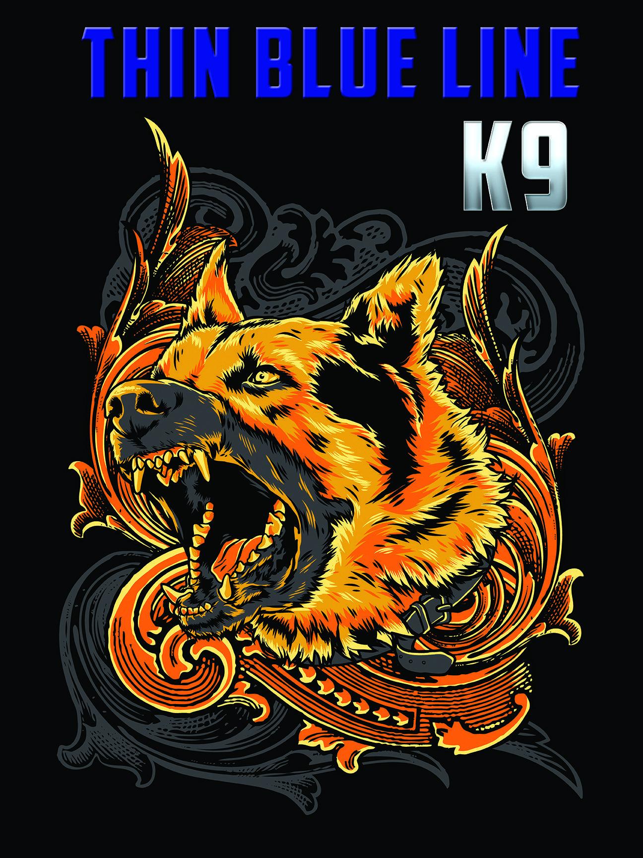 Thin Blue Line K9 Poster Police Life Police K9 Dog Logo