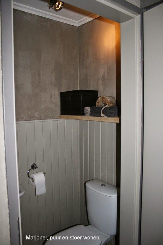 Marjonel, puur en stoer wonen: Kalkverf | badkamer | Pinterest | Toilet