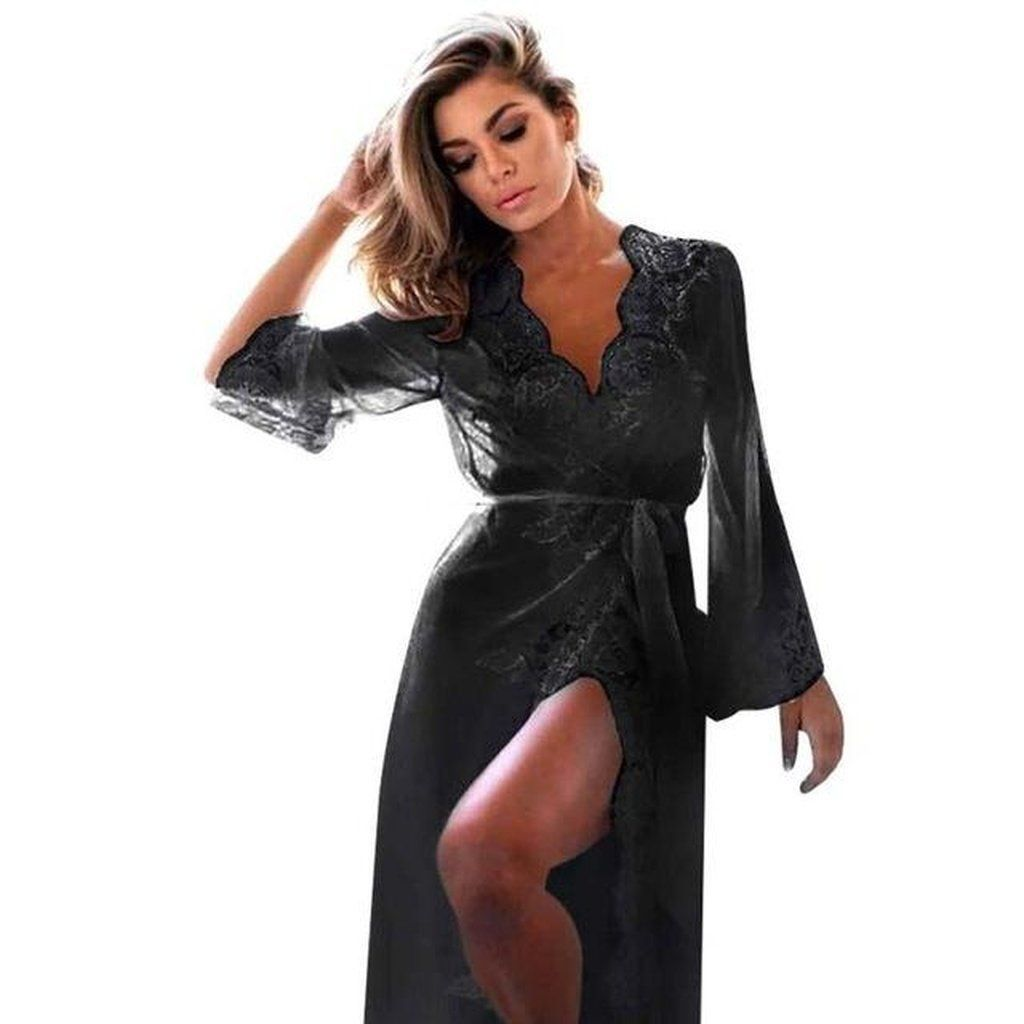Lace dress nightwear  Lace Dress robe  Products  Pinterest  Dress robes Lace dress and