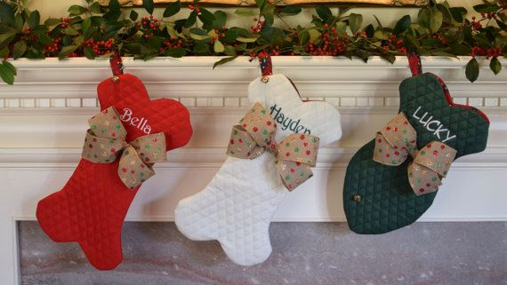 christmas stocking for pets personalized dog bone fish with