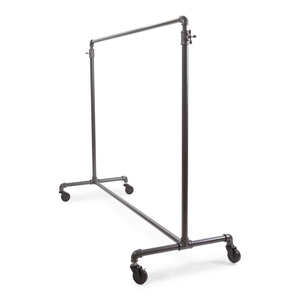 Econoco Pipeline Gray Steel Adjustable Clothes Rack 43 In W X 72 In H In 2020 Rolling Garment Rack Garment Racks Clothing Rack