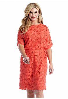London Times Short Sleeve Blouson Dress Belk